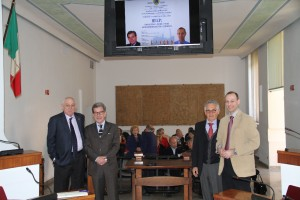 Arzachena 28-03-2015 Aula Consiliare - da sinistra Fiorenzo Melis, Guido Cogotti, Pier Sesto Demuro, Roberto Muller