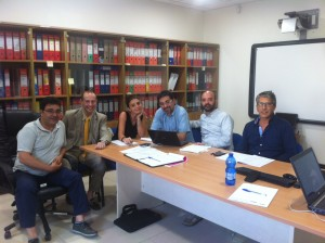 Da sinistra, Pierpaolo, Roberto, Claudia, Stefano, Marco, Saverio