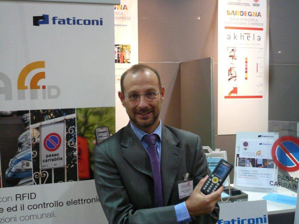 Stand Faticoni spa presso SMAU 2012 con Roberto Muller, Product Manager di Traffid.